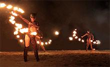 Огненное пиротехническое шоу