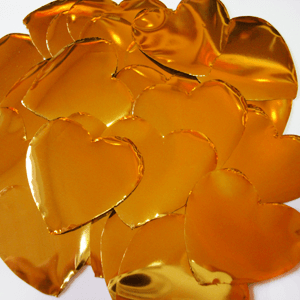 Метафан металлизированный золото-серебристые сердечки MF-2