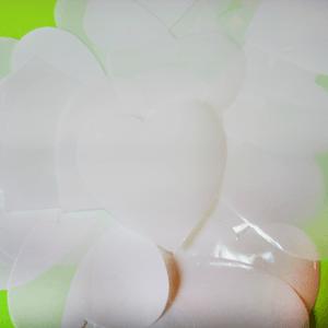 Метафан полипропиленовый белые сердечки MF-4