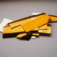 Метафан металлизированный золотистый прямоугольный MM-2