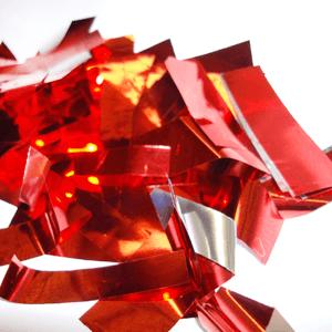 Метафан металлизированный красно-серебристый MM-4