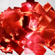 Метафан металлизированный красный прямоугольный MM-5