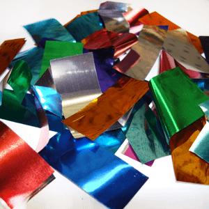 Метафан металлизированный разноцветный прямоугольный MM-8