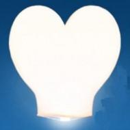 Небесные фонарик сердце малое белое