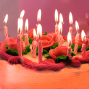 Свечи огненные на торт